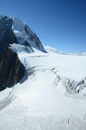 crevasse: Alpine Glacier Stock Photo