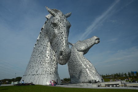 View of the Kelpies