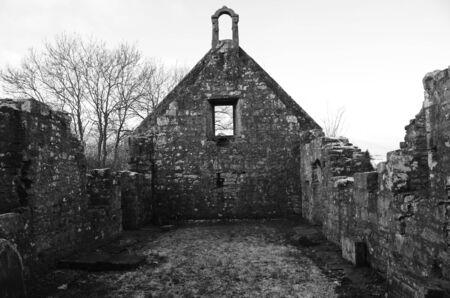 ruined: Inside ruined Church