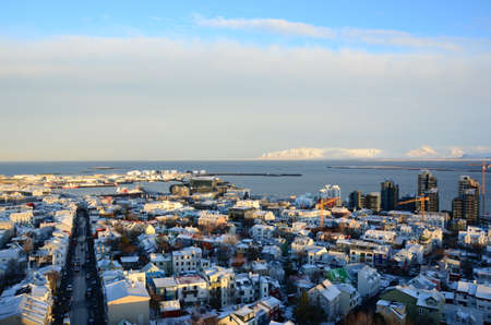 rooftops: Rooftops of Reykjavik Stock Photo