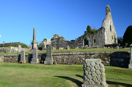 church ruins: Carnock Church Ruins Editorial