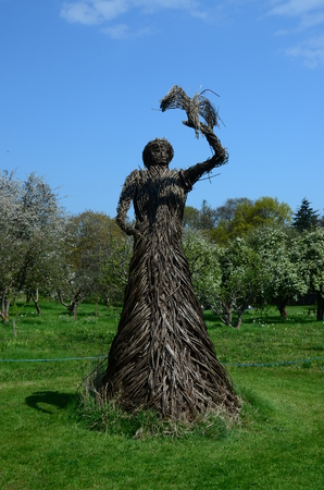 wicker: Wicker Woman Stock Photo