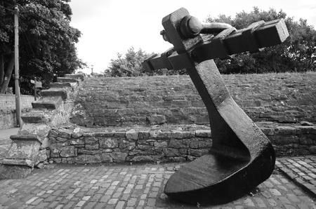 memorabilia: Anchor in Culross Stock Photo