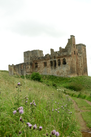 lothian: View Toward Crichton Castle Editorial