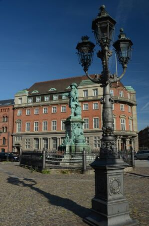 Lamp Post and Statue