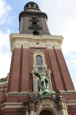 Tall Church Tower Stock Photo