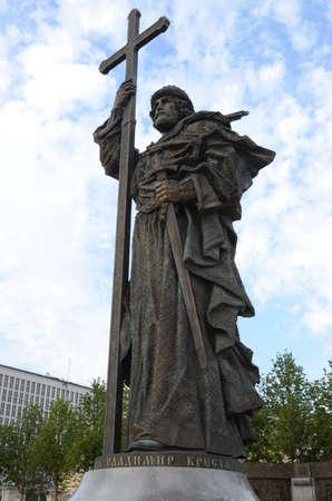 St. Vladimir Statue Stock Photo