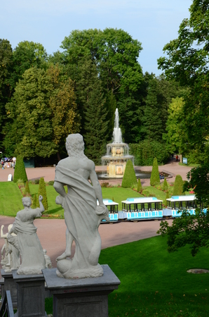 Statues and Fountain