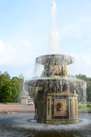 Pair of Fountains Stock Photo