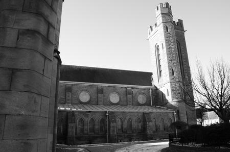 Exterior of Invergowrie Church Stock Photo