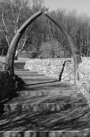 Whale Bone Arch Stock Photo