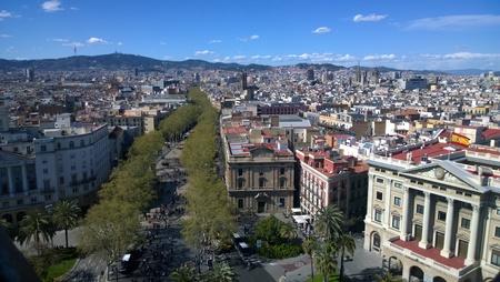 Barcelona View Stock Photo