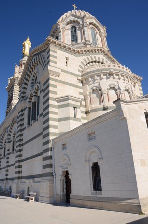 Exterior of Basilica Stock Photo