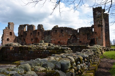 View of Ruins of Penrith Castle 免版税图像