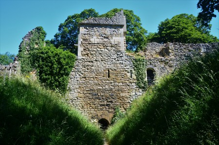 A view of the ruins of Pickering Castle in North Yorkshire