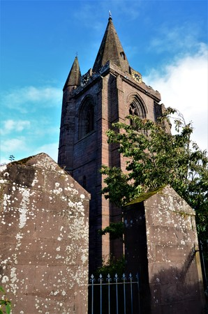 An exterior view of the cathedral building in the Angus town of Brechin