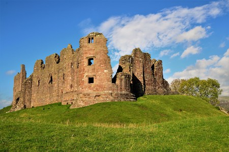 A view of the ruins of the medieval Brough castle in Cumbria.