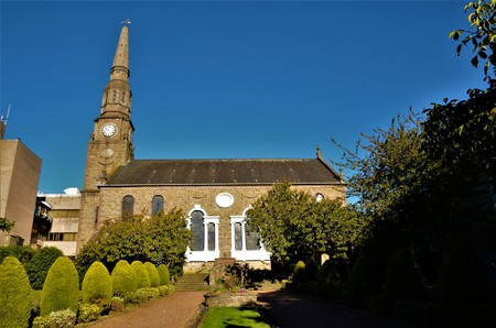 An exterior view of one of many church buildings in the city of Dundee.