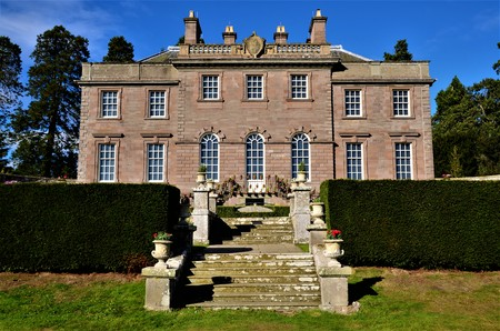 An exterior view of the 18th century architecture of the house of Dun