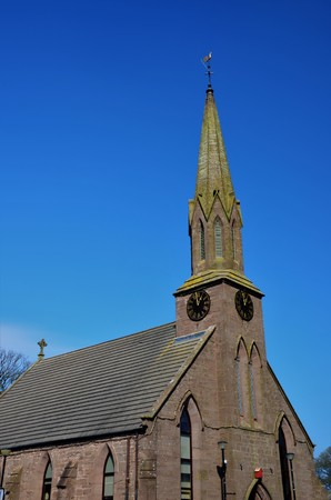 An exterior view of a church building in Laurencekirk in Aberdeenshire Stock Photo