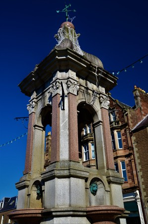 A view of a decorative ornamental fountain in Crieff, Perthshire Stock fotó