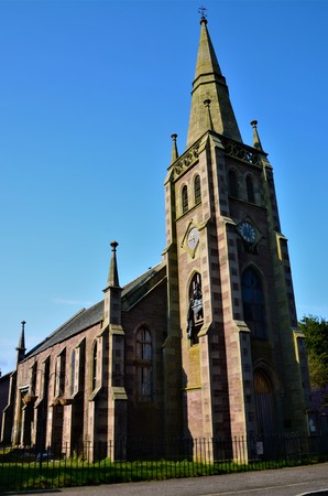 An exterior view of a church building in the Perthshire town of Blackford near Gleneagles.