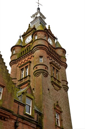An external view of a tower building in the town of Lockerbie in the Scottish Borders