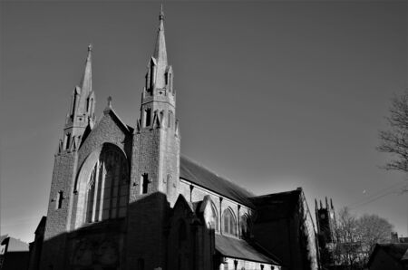An external view of a church building in the west Lothian town of Bathgate in Scotland.