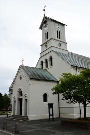 An external view of a church building in the Icelandic Capital City of Reykjavik.