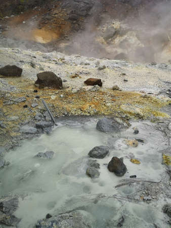 A view of the Krysuvik geothermal hot springs area on the Reykjanes peninsula in Iceland