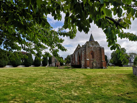 An exterior view of the ruins of a medieval Cathedral in the black Isle town of Fortrose in the Scottish Highlands 版權商用圖片