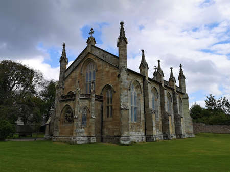 An exterior view of a church building in the black Isle town of Fortrose in the Scottish Highlands 版權商用圖片