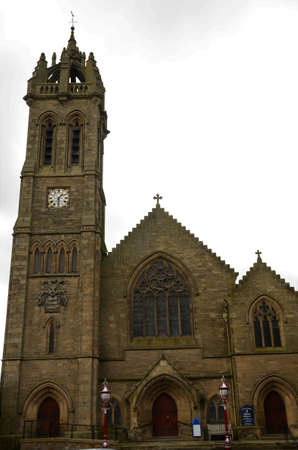 An exterior view of the church buildings in the Borders town of Peebles in Scotland