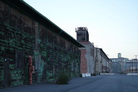 shipyard: Hunters Point Shipyard Stock Photo