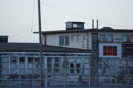 abandoned warehouse: Hunters Point Shipyard Editorial