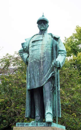 chancellor: Otto Von Bismarck sculpture, german chancellor of Prussia Reign