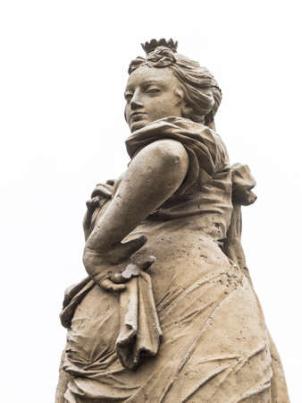 cunning: Cunning, mischievous and wily look of a woman statue.