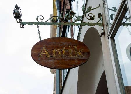 antik: Antik signboard, antik means ancient in hungarian
