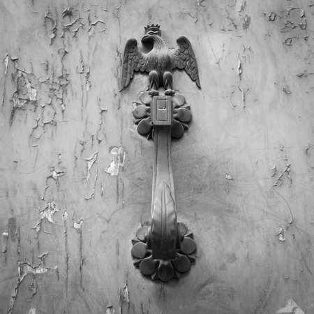 doorhandle: Ancient door handle with an eagle figures
