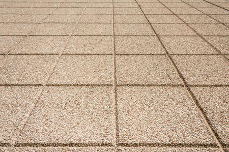 ices: Detail of a brick stone floor, square design
