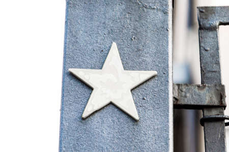 pointed: Five pointed star, detail of an urban construction Stock Photo