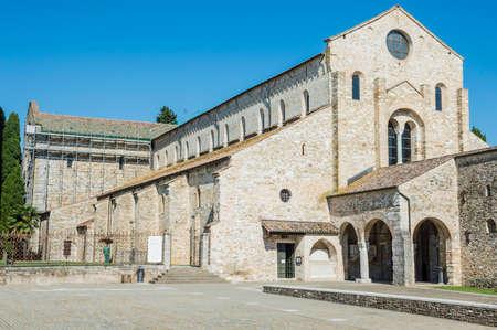 restoration: External restoration of a medieval italian church Stock Photo