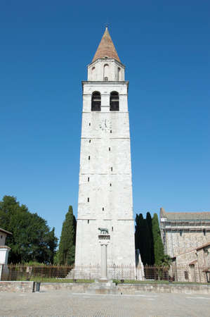 church steeple: Church steeple in front of capitoline wolf column