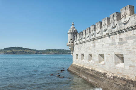 belem: Belem Tower is a fortified tower located in the civil parish of Santa Maria de Belem in Lisbon, Portugal Editorial