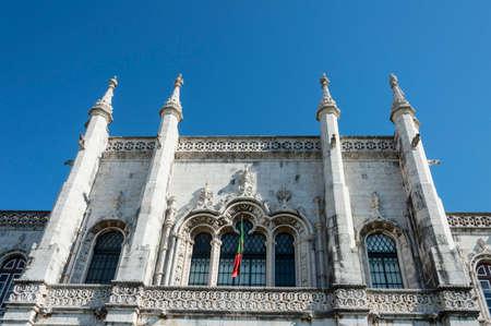 Lisbon, Portugal - 17th July 2016: The Jeronimos Monastery or Hieronymites Monastery Editorial