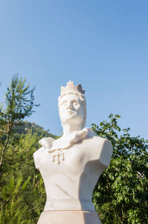 coronation: Street of Sintra, Portugal, bust of a princess