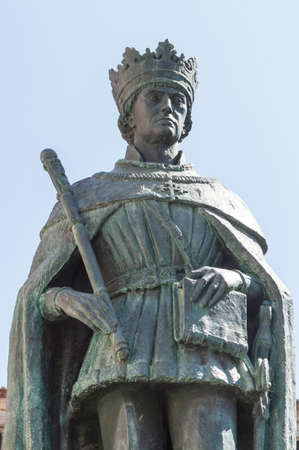 public domain: Statue of king Duarte, also called Edward, ancient Portugal sovereign, placed in Viseu