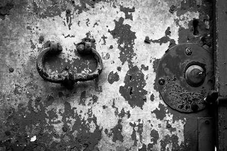 Close up of rustic old door in Sicily Catania Acireale photo