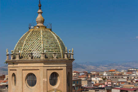 Italy: The Norman church dome in country photo