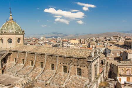 italian architecture: Italian architecture: Church exterior detail.